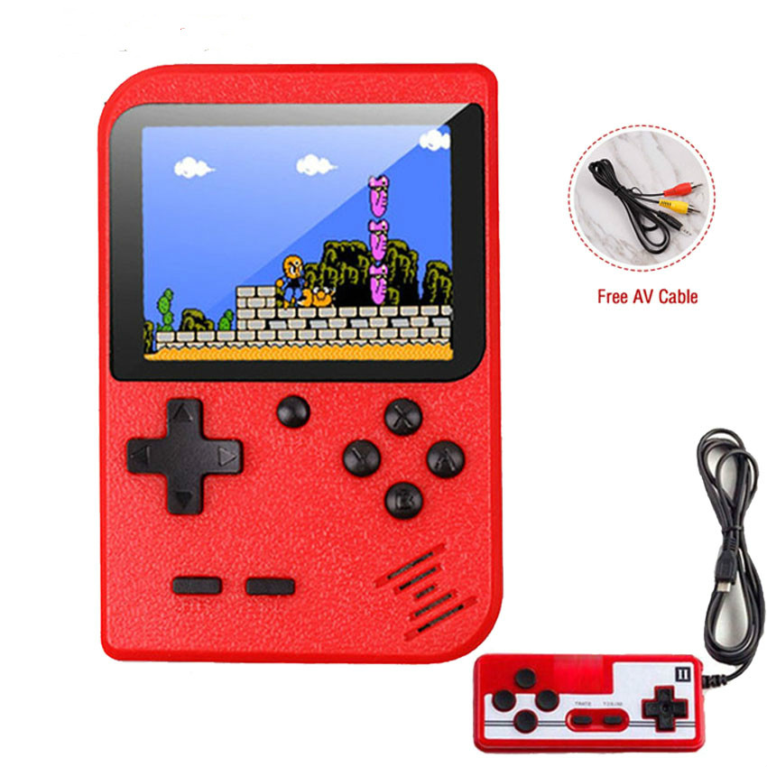 2020 New Built-in 400 Games 1000mAh Battery Retro Video Handheld Game Console+Gamepad 2 Players Doubles 3.0 Inch LCD Game Player