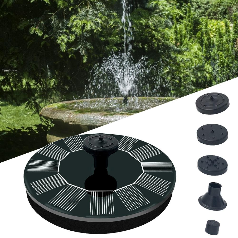 2020 Newest Automatic Start Solar Fountain Pump Waterproof Floating Solar Panel Water Pump Kit For Pond Pool Garden Decoration