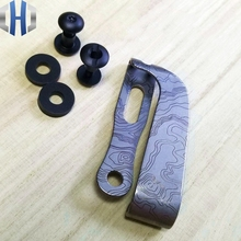 Map Color Protection Clip Titanium Back Clip Leather Clip With Screw Matching K Plate Scabbard Knife Set Accessories