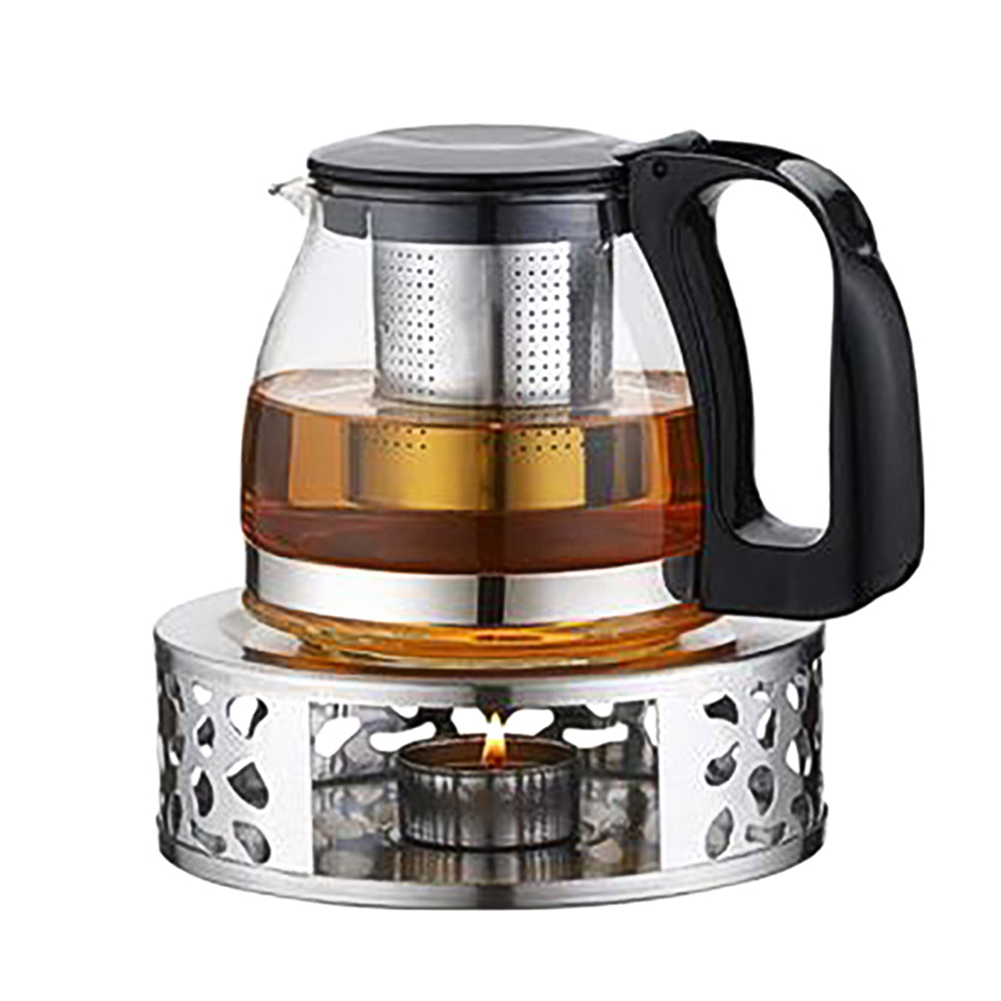 Stainless Steel Tea Warmer Heater Candle Base Durable For Heat-Resistant Teapots DIN889