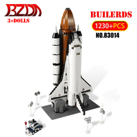 BZDA Technic Rocket Toy 1230 PCS Shuttle Expedition Model Building Blocks Space Exploration Plane Rocket Compatible Toys