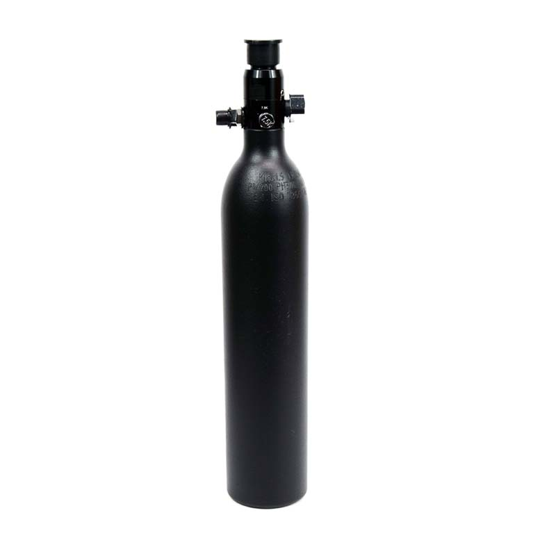 New PCP Paintball Cylinder High Pressure Tank 0.5L Air Tank Hunting Bottle 3000psi/200BAR M18*1.5 Thread Black