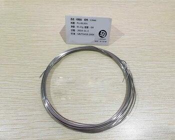 High purity platinum wire Pt wire platinum wire platinum wire electrode platinum rod 1.0mm 99.99% purity 5 cm/ 10 cm фото