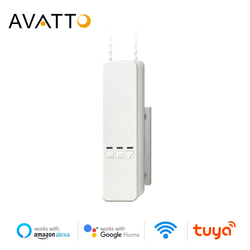 Persianas enrollables motorizadas inteligentes AVATTO, Tuya WiFi Control remoto de voz sombra Unidad de obturador Motor funciona con Alexa/Google home