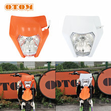 OTOM Dirt Bike LED Motorcycle Headlight Headlamp Motocross Supermotor Front Lamp Mask Lighting For KTM XCW EXCF 125 250 350 500