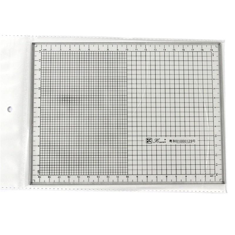 Cowan Card 20 Cm Multi-functional Plaid Ninth House Ruler Coordinates Star Shaped Grid Ruler Sudoku Feet