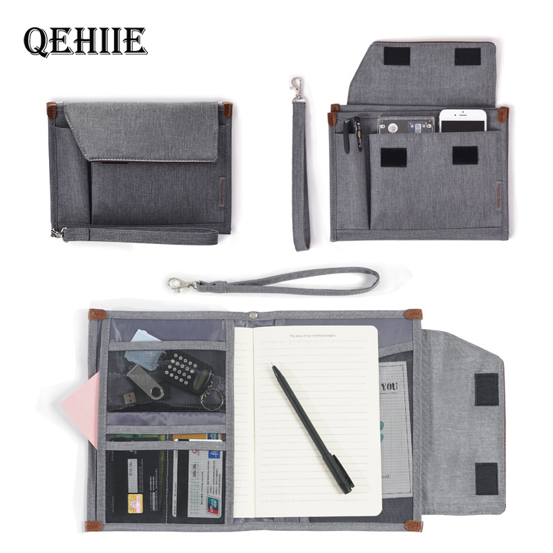 Waterproof Men's Business Office Bag Women's Document Bag Portable Oxford Notebook Pouch Passport Cover Accessories Supplies 688