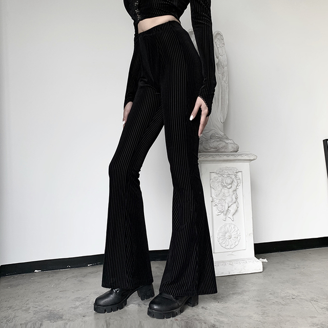 Streetwear pants with horizontal stripes