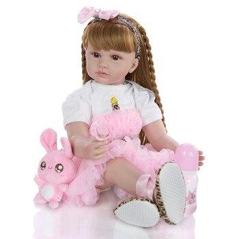 NPK DOLL 60cm reborn baby toy dolls soft silicone vinyl reborn toddler girl bebes reborn bonecas play house toys child plamates
