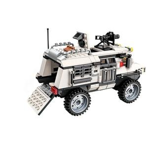 Image 2 - 298PCS Military Car Vehicle Weapon Sets Building Blocks WW2 Army Panzer Chinoook Brick DIY Toy Children Boy Gift