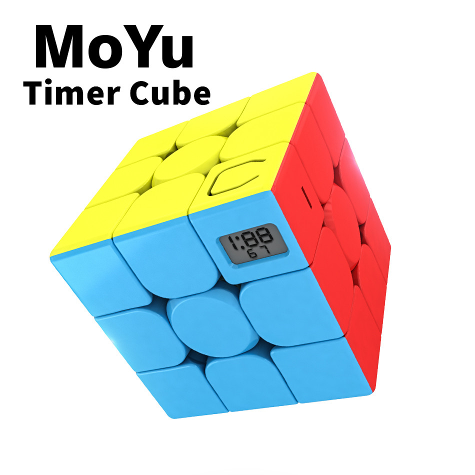 MoYu Cubing Classroom 3x3x3 Meilong Magic Timer Cube Stickerless Professional Puzzle Speed Cube Educational Toys For Children