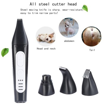 USB Rechargeable Dogs Cats Pet Hair Trimmer Grooming Kit Professional Pets Hair Cutter Electric Pet Paw Trimmer Clipper