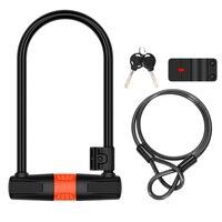 1 مجموعة U على شكل قفل المهنية مكافحة سرقة U على شكل قفل الصلب كابل ل دراجة نارية-في قفل الدراجة من الرياضة والترفيه على