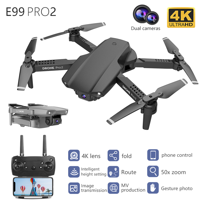 LSKJ E99 Pro2 RC Mini Drone 4K HD Dual Camera WIFI FPV Professional Aerial Photography Helicopter Foldable Quadcopter Drone Toys 1