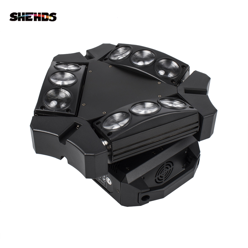 新着ミニ Led 9 × 10 ワット LED スパイダーライト RGBW 16/48CH DMX 舞台照明 Dj LED クモ移動ヘッドビーム光