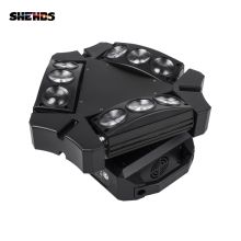 New Arrival CREE MINI LED 9x10W Led Spider Light RGBW 9/43CH DMX Stage Lights Dj Led Spider Moving Head Beam Light 6pcs lot newest adj light 9 heads led spider moving head beam light usa full color cree led moving head disco dj effect lighting