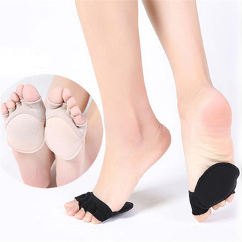 Five-finger Socks Thin Fish Mouth Shoes High Heel Invisible Women Summer Half Palm Sock Comfortable Plus Five-finger Pads image