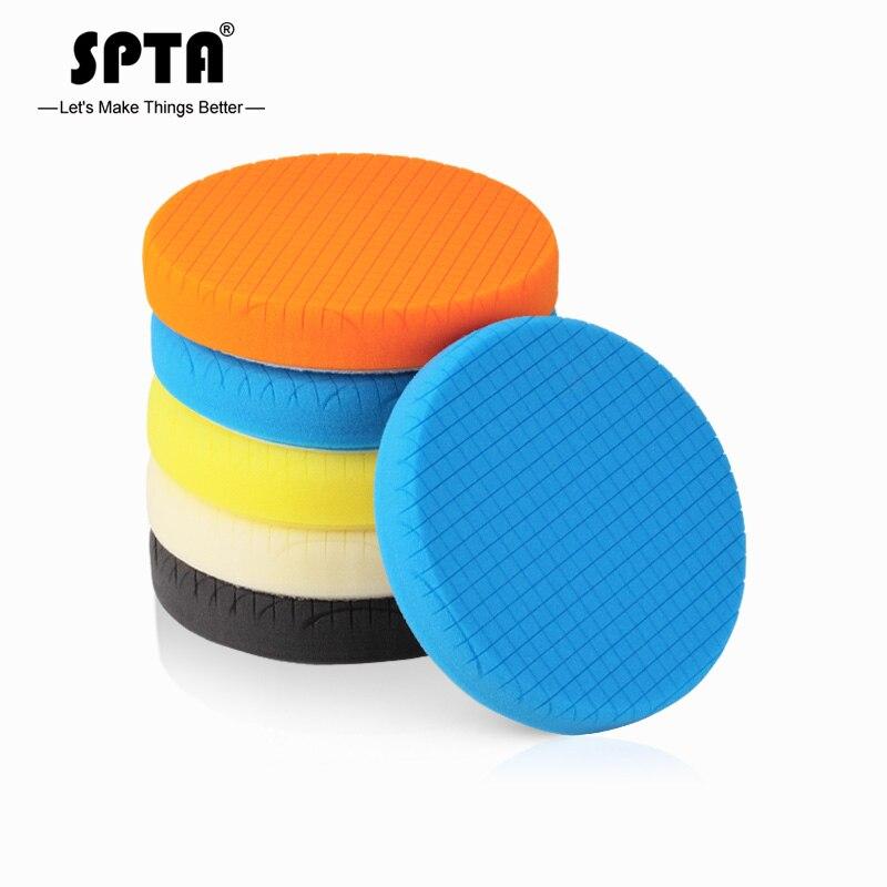 (Toplu satış 1) SPTA 5.5 inç (135mm) hafif/orta/ağır parlatma pedleri ve parlatma pedi 5 inç (125mm) RO/DA/GA araba balmumu araba parlatıcı