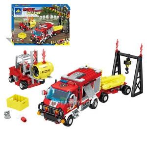 Image 4 - Ville incendie sauvetage véhicule forêt échelle camion de pompier voiture blocs de construction définit pompier Brinquedos jouets éducatifs pour les enfants