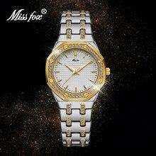 Часы missfox женские водонепроницаемые брендовые Роскошные с