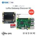 LoRa Gateway Discover Kit RAK2245 Pi HAT with Raspberry Pi 3B 16G TF Card LoRaWAN Application with Lora Antenna GPS Module Q197