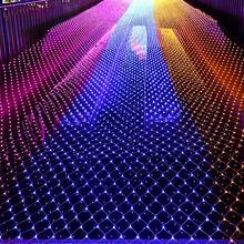 3 м* 2 м светодиодный сетчатый светильник, открытый сетчатый Рождественский свет, водонепроницаемый Пейзаж, свадьба, праздник, Рождество, Сказочная лампа, украшение ЕС 220 В