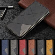 Do Samsung Galaxy A01 przypadku magnetyczne skórzane cienkie etui na Samsung A01 A015F A015 SM-A015F etui z podstawką biznes telefon okładka