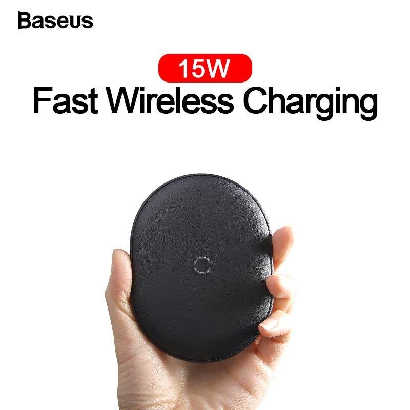 Chargeur sans fil Baseus 15W Qi pour iPhone 11 Pro Max Airpods chargeur à Induction de charge rapide sans fil pour Samsung Xiao mi mi