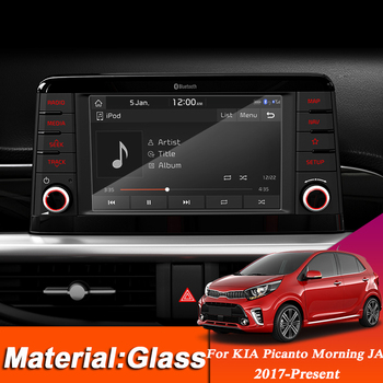 Car Styling 7inch Dashboard GPS Navigation Screen Glass Protective Film Sticker For KIA Picanto Morning JA Control of LCD Screen image