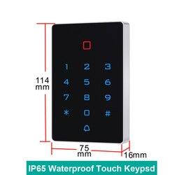 Wodoodporny ekran dotykowy IP65 125khz karta RFID klawiatura kontroli dostępu karta EM czytnik drzwi przyrząd do otwierania zamków wiegand 26 podświetlenie