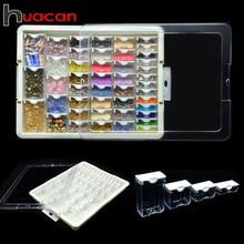 Huacan boîte de rangement pour peinture diamant, accessoires 5d, outil de mosaïque pour broderie et à faire soi même