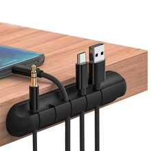 Onvian Cable Organizer Silicone USB Holder Winder Flexible Management Clips For Mouse Headphone Earphone Keyboard