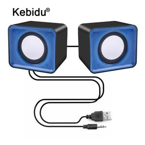 Портативные мини-колонки kebidu с USB 2,0, музыкальная стереоколонка для компьютера, настольного ПК, ноутбука, домашнего кинотеатра вечерние праз...