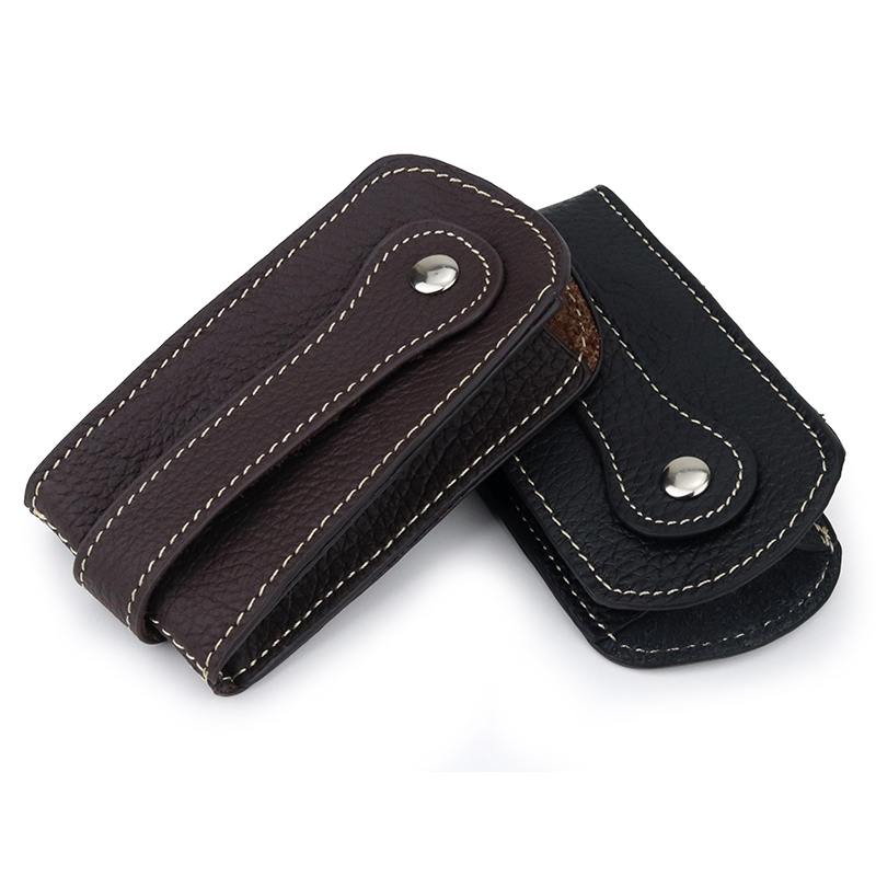 New Arrivals Guaranteed Cowhide Leather Key Wallet Men Car Key Holder Practical Key Chain Housekeeper Factory Price On Sale