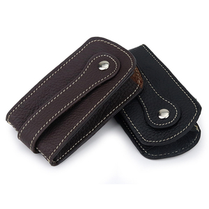 New Arrivals Guaranteed Cowhide Leather Key Wallet Men Car Key Holder Practical Key Chain Housekeeper Factory Price On Sale(China)