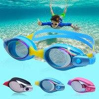 Óculos de proteção crianças galvanizado de alta definição anti nevoeiro óculos de natação revestimentos de vidro liso à prova dsilica água masculino e feminino sílica ge Óculos de segurança     -