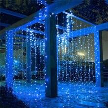 Рождественская гирлянда 3 12 м мигающие светодиодные гирлянды