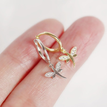 New Sterling 925 Silver Dragonfly Insect Hoop Earrings High Quality Korea Style Animal for Women Birthday Jewelry Gifts