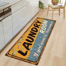 Tapete de cozinha para sala de estar tapete de cozinha anti-derrapante tapete de cozinha corredor