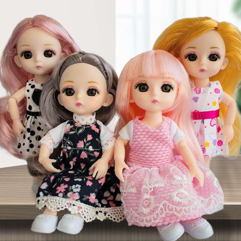 BJD Doll Customized Joint Doll 16cm Suitable For Dress Up By Yourself DIY Change 1/12 BJD Toy Special Price For New User