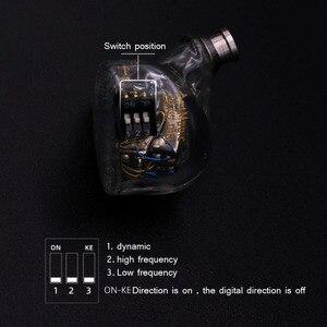 Image 3 - BGVP ES12 4EST + 8BA электростатические сбалансированные наушники Hifi музыка Moniotor personalizables наушники аудиофилы музыкальный