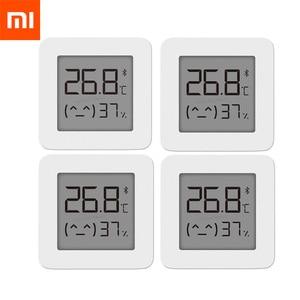 Image 1 - شاومي Mijia بلوتوث ميزان الحرارة الرقمي 2 اللاسلكية الذكية درجة الحرارة الرطوبة الاستشعار شاشة LCD الرقمية الرطوبة متر
