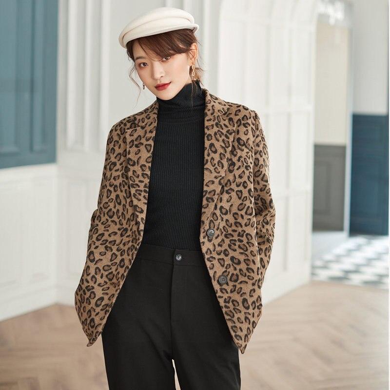 HziriP Retro Leopard Sexy Slender Women Elegant High Street Vintage Loose Ventilation Office Lady Feminine All Match Plus Blazer