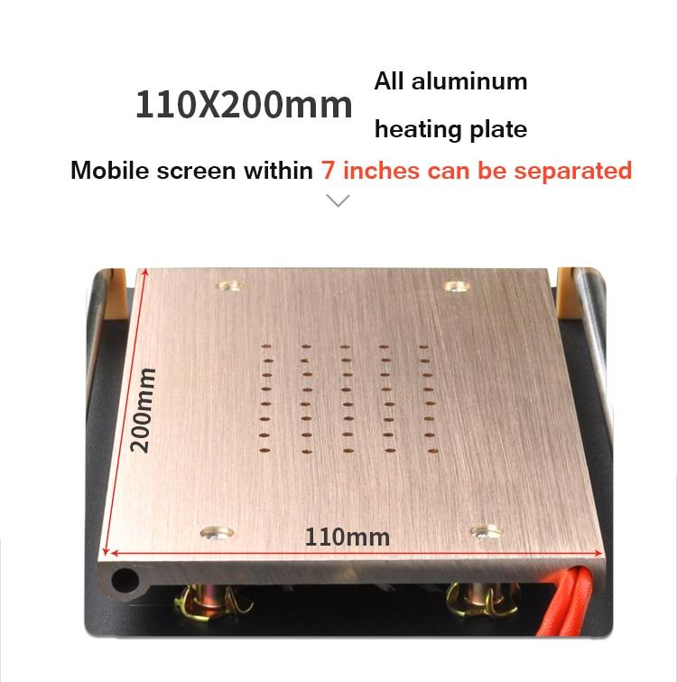 UYUE 948Q встроенный насос вакуумный металлический корпус стеклянная машина-сепаратор с ЖК-экраном макс 7 дюймов+ режущая проволока 100 м с силиконовым ковриком