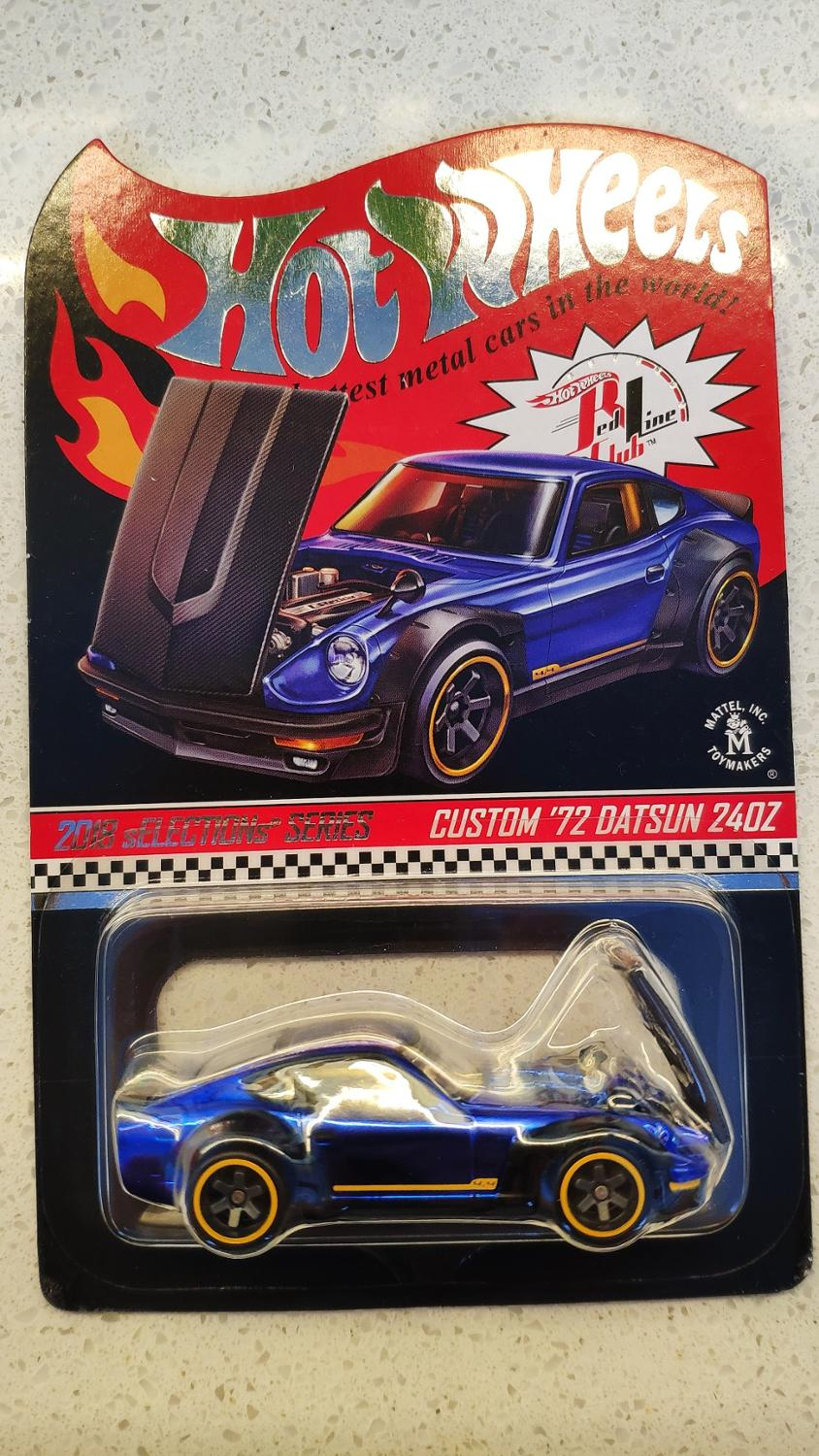 Hot Wheels Car 2018 Red Line Club CUSTOM 72 DATSUN 240Z Collector Edition Metal Diecast Model Cars Kids Toys Gift