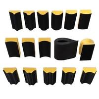 16Pcs/Set Sanding Pad 40x100Mm Shaped Hand Sanding Block Sanding Disc Grinding Sponge for Hook & Loop Sandpaper Abrasive Tool