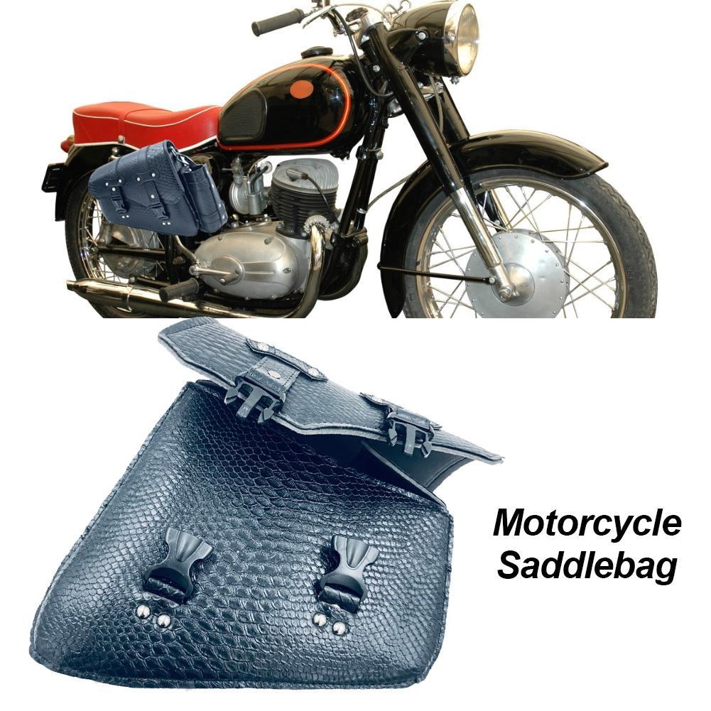1Pcs Universal Motorcycle Saddlebags Throw Under Seat Side Tools Luggage Bag Pouch Universal PU Leather Saddlebag