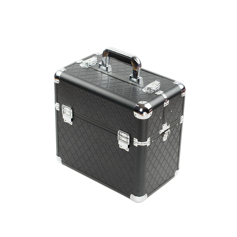 Top Grade Portable Cosmetic Case Aluminium Alloy Beauty Hairdressing Box Munsu Toolbox Profession Treasure