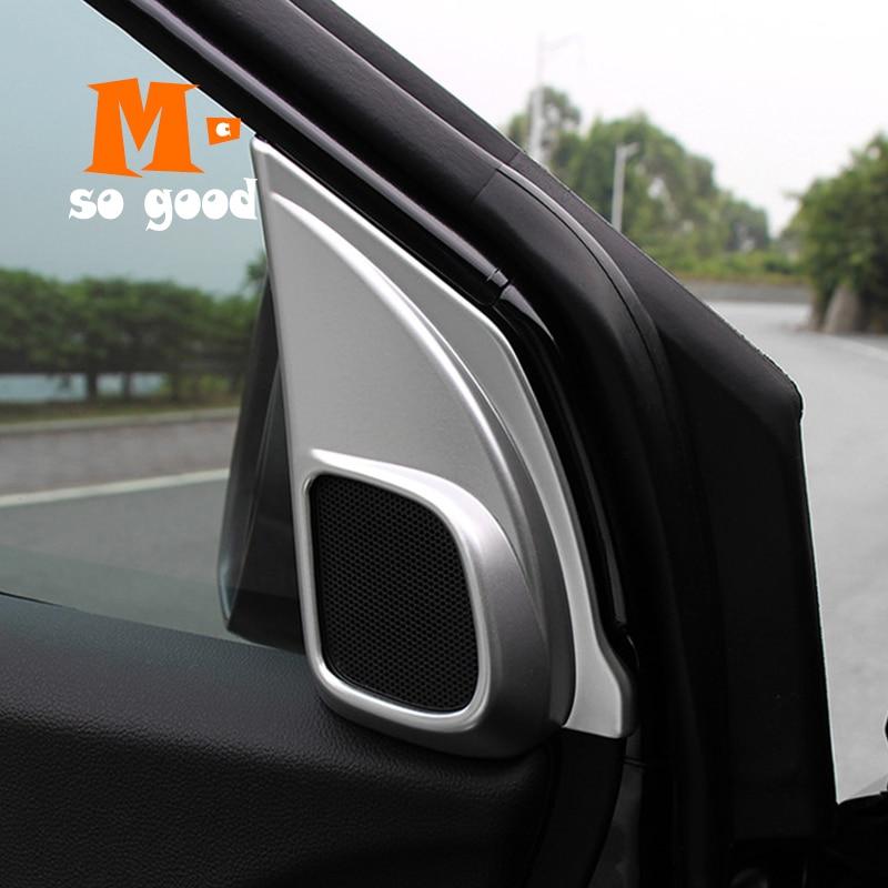 ABS Chrome Matte Car Front Rear Door Stereo Speaker Cover Trim For Honda CRV 17