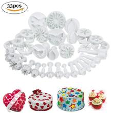 33Pcs Fondant Cutter Cake Tools Sugar Cookie Biscuit Cake Mold Mould Craft DIY 3D Cake Decorating Sets Tools New